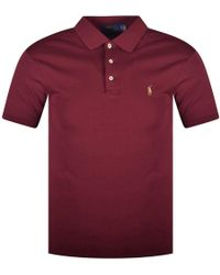 Polo Ralph Lauren - Wine Coloured Slim Fit Polo Shirt - Lyst