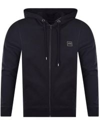 BOSS by Hugo Boss - Black Square Badge Hoodie - Lyst