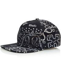 Rhude Black Snapback Cap