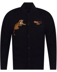 Maharishi - Black Tiger Embroidered University Jacket - Lyst