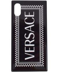 Versace Black/white Check Iphone X Phone Case