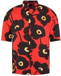 AMI Black/red Poppy Casual Shirt