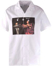 Off-White c/o Virgil Abloh Caravaggio Print Holiday Shirt - White