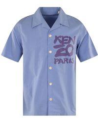 KENZO Blue Kanji Shirt