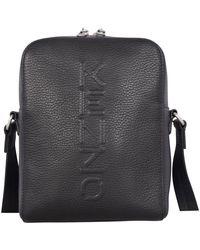 KENZO Black Leather Cross-body Bag