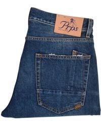 PRPS Mid-wash Distressed Esprit Jeans - Blue