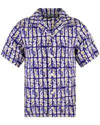 KENZO Plum Blue Mermaid Short Sleeve Shirt