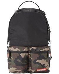 Sprayground Camo Side Shark Double Cargo Backpack Men's Backpack In Other - Black