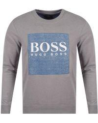 BOSS - Casual Grey Wedford Sweatshirt - Lyst