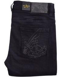 Vivienne Westwood Black Stitch Logo Skinny Jeans