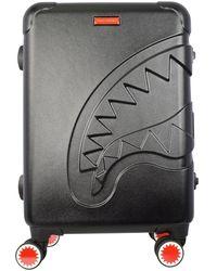 Sprayground Black Sharkitecture Carry On Suitcase