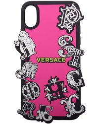 Versace Pink/black Rubber Iphone X Case