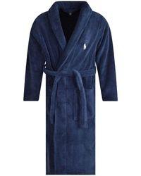 Polo Ralph Lauren Navy Towelling Robe - Blue