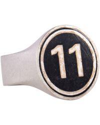 Maison Margiela 11 Silver Chevalier Ring - Metallic