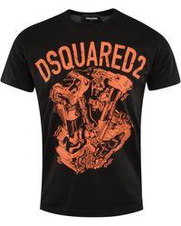 DSquared² Graphic Print T-shirt - Black