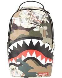 Sprayground Camo Money Shark Pvc Backpack - Multicolor
