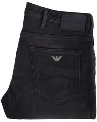 Emporio Armani Washed Black Slim Fit Jeans
