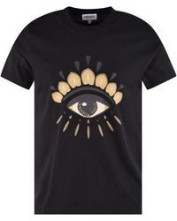 KENZO Black Eye Motif Logo T-shirt