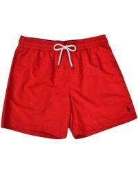 Polo Ralph Lauren - Red Logo Swim Shorts - Lyst
