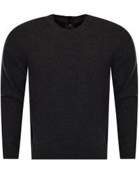 PS by Paul Smith - Grey Lambswool Pullover Jumper - Lyst