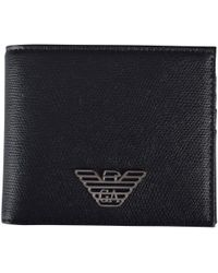 Emporio Armani Black Metal Eagle Wallet