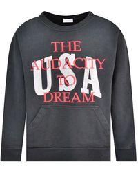 Rhude Black Vintage Washed Dreamers Sweatshirt