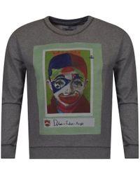 Vivienne Westwood - Grey Large Front Image Print Sweatshirt - Lyst