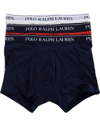 Polo Ralph Lauren - Three Pack Stretch Cotton Trunks In White/red/navy - Lyst