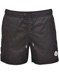 Moncler Black Swim Shorts