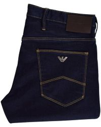 Emporio Armani Dark Wash J06 Slim Jeans - Blue