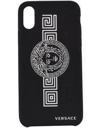 Versace Medusa Print Iphone X/xs Phone Case - Black