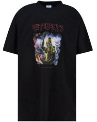 Vetements Black The Book Of Dead Oversized T-shirt