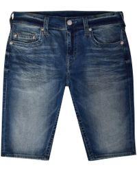 True Religion Mid-blue Rocco Denim Shorts