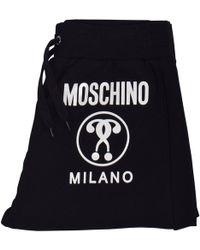 Moschino Black/white Milano Shorts Joggers