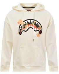 Sprayground Cream Logo Hoodie - White