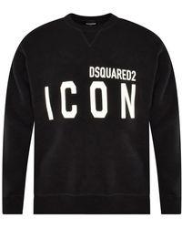 DSquared² Icon Print Sweatshirt - Black
