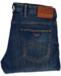 Emporio Armani - Jo6 Distressed Blue Jeans - Lyst