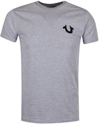 True Religion - Grey/black Buddha Logo T-shirt - Lyst