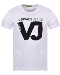 Versace Jeans - White Terry Cloth Logo T-shirt - Lyst