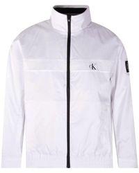 Calvin Klein White Ck Windbreaker Jacket