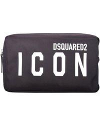 DSquared² Black Icon Clutch