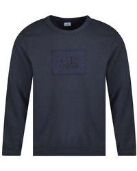 C.P. Company Navy Logo Sweatshirt - Blue
