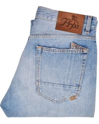 PRPS Light Wash Distressed Thunderbird Jeans - Blue