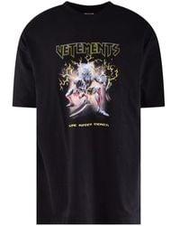 Vetements Black Oversized Electric Monster Logo T-shirt