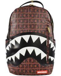 Sprayground Offended Shark Backpack - Brown