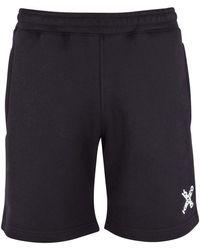 KENZO Black 'little X' Logo Sweat Shorts