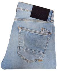 PRPS Light Wash Distressed Windsor Jeans - Blue
