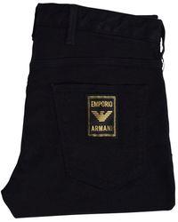 Emporio Armani Black J06 Slim-fit Jeans