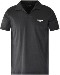 Balmain Black Logo Polo Shirt
