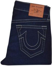 True Religion Dark Passage No Flap Jeans - Blue